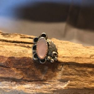 Old Pawn Sterling Silver and Mother of Pearl Ring